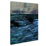 Boven en onderwater vissen - Canvas