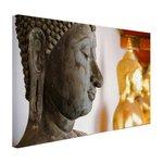 Boeddhahoofd in Wat Pho tempel Bangkok - Canvas