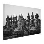 Zwart-wit foto van Boeddhas - Canvas