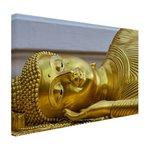 Liggende Boeddha van goud - Canvas