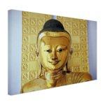 Gouden Boeddha beeld - Canvas