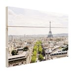 Parijs Skyline - Hout