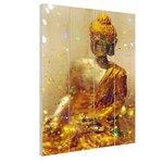 Glinsterende Boeddha - Hout
