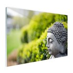 Standbeeld van Boeddha in een tuin - Plexiglas