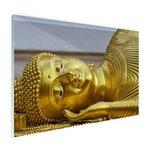 Liggende Boeddha van goud - Plexiglas