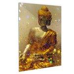 Glinsterende Boeddha - Plexiglas