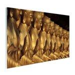 Buddhas op een rij - Plexiglas