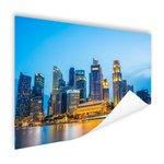Singapore skyline in de avond - Poster