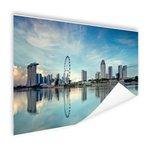 Reflectie in het water Singapore - Poster