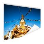 Stoepa met vlaggen Kathmandu - Poster