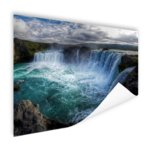 IJslandse watervallen - Poster