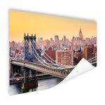 Skyline New York in de avond - Poster