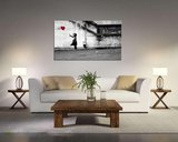 Banksy Ballon - Canvas Schilderij 80 x 60 cm_