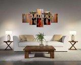 Afrika - Canvas Schilderij Vijfluik 160 x 80 cm_
