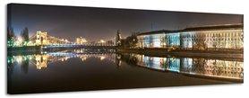 Grunwald Bridge - Canvas Schilderij Panorama 158 x 46 cm