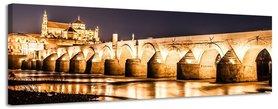 Romeinse Brug Córdoba - Canvas Schilderij Panorama 158 x 46 cm