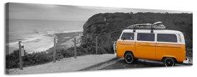 VW Camper - Canvas Schilderij Panorama 158 x 46 cm