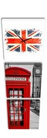 Londen - Canvas Schilderij Klok Vierkanten