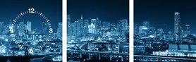 San Francisco - Canvas Schilderij Klok Vierkanten