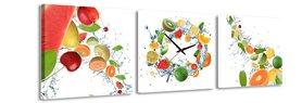 Vers fruit - Canvas Schilderij Klok Vierkanten