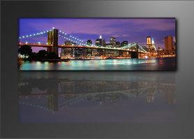 New York - Canvas Schilderij Panorama 120 x 40 cm
