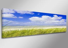 Strand - Canvas Schilderij Panorama 120 x 40 cm