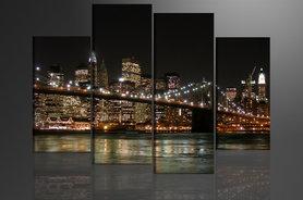 New York - Canvas Schilderij Vierluik 130 x 80 cm