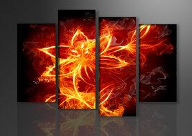 Vuur - Canvas Schilderij Vierluik 130 x 80 cm