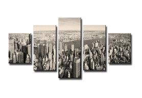 New York- Canvas Schilderij Vijfluik 100 x 50 cm