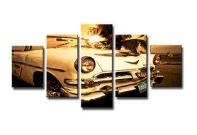 Auto - Canvas Schilderij Vijfluik 160 x 80 cm