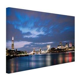 Londen skyline in de avond - Canvas