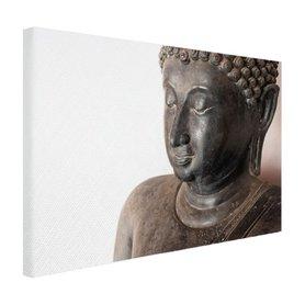 Boeddha hoofd van steen - Canvas