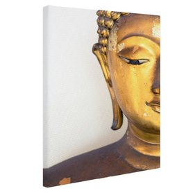 Gouden Boeddha hoofd - Canvas