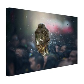Boeddha in een Thaise tempel - Canvas