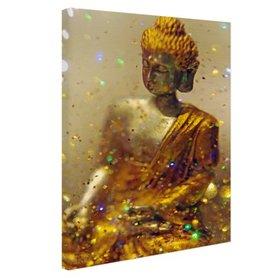Glinsterende Boeddha - Canvas