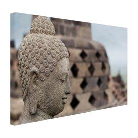 Boeddha standbeeld in Borobudur tempel - Canvas
