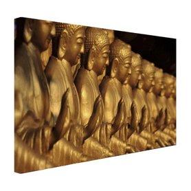 Buddhas op een rij - Canvas