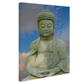 Stenen Boeddha - Canvas