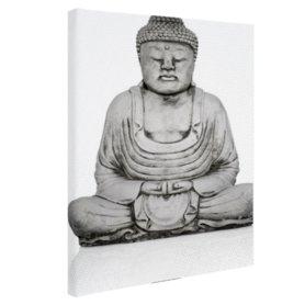 Stenen standbeeld van Boeddha - Canvas