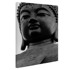 Zwart-wit van de Tian Tan Boeddha - Canvas