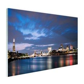Londen skyline in de avond - Plexiglas