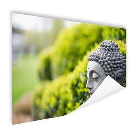 Standbeeld van Boeddha in een tuin - Poster