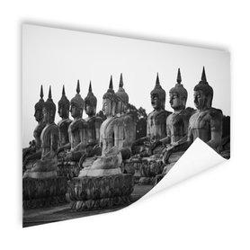Zwart-wit foto van Boeddhas - Poster