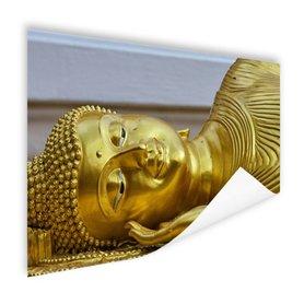 Liggende Boeddha van goud - Poster