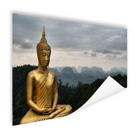 Boeddha met bewolkte lucht - Poster