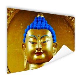 Goud met blauw Boeddha beeld - Poster