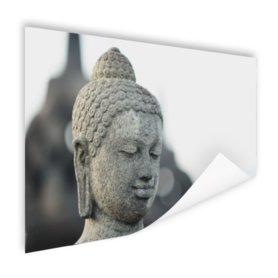 Boeddha hoofdbeeld steen - Poster