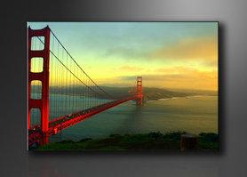 Golden Gate Bridge - Canvas Schilderij 120 x 80 cm