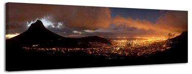 Kaapstad - Canvas Schilderij Panorama 118 x 36 cm