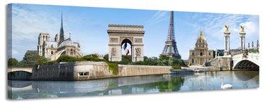 Droom van Frankrijk - Canvas Schilderij Panorama 118 x 36 cm